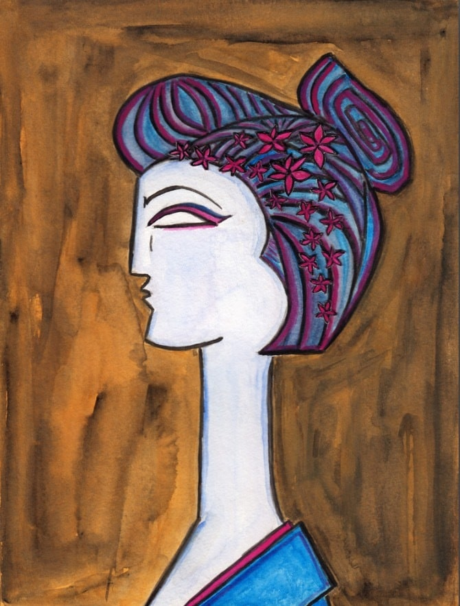 Maiko-Geisha-Flowers-Watercolor-Painting-Paul-Zepeda-Wet-Paint-NYC-Original-Available-Art-rpqr25