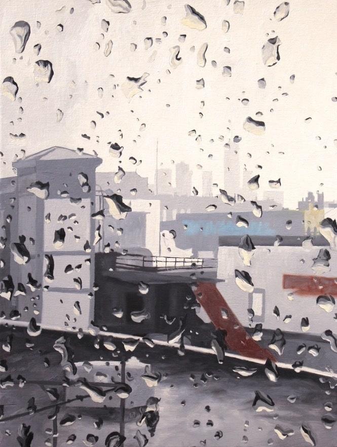 Rainy-Day-New-York-Original-Oil-Painting-for-sale-Michael-Serafino-wet-paint-nyc-fflzyg