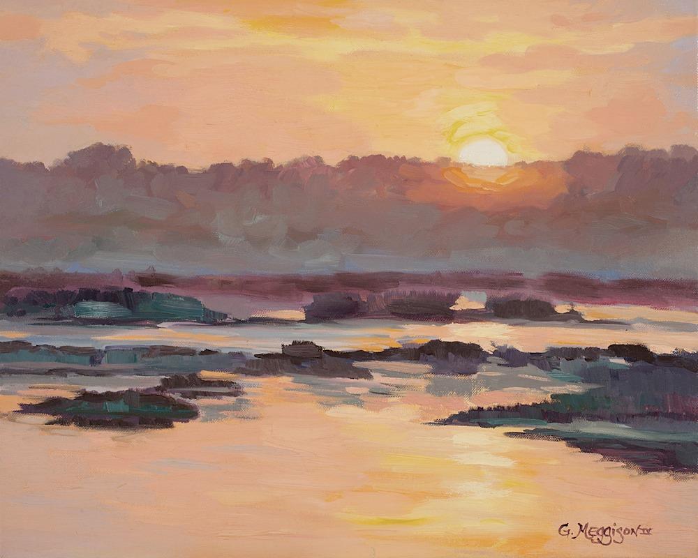 Sunrise-On-Kings-Bay-20-x16-Original-nsc9u8