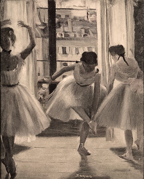 Three-dancers-in-a-practice-room-by-Degas-sepia-vbrnlu