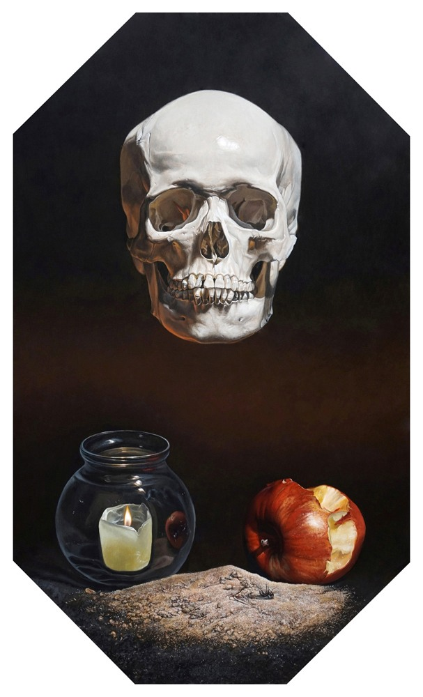 Kevin-Grass-Memento-Mori-Acrylic-on-panel-painting-sfkykd