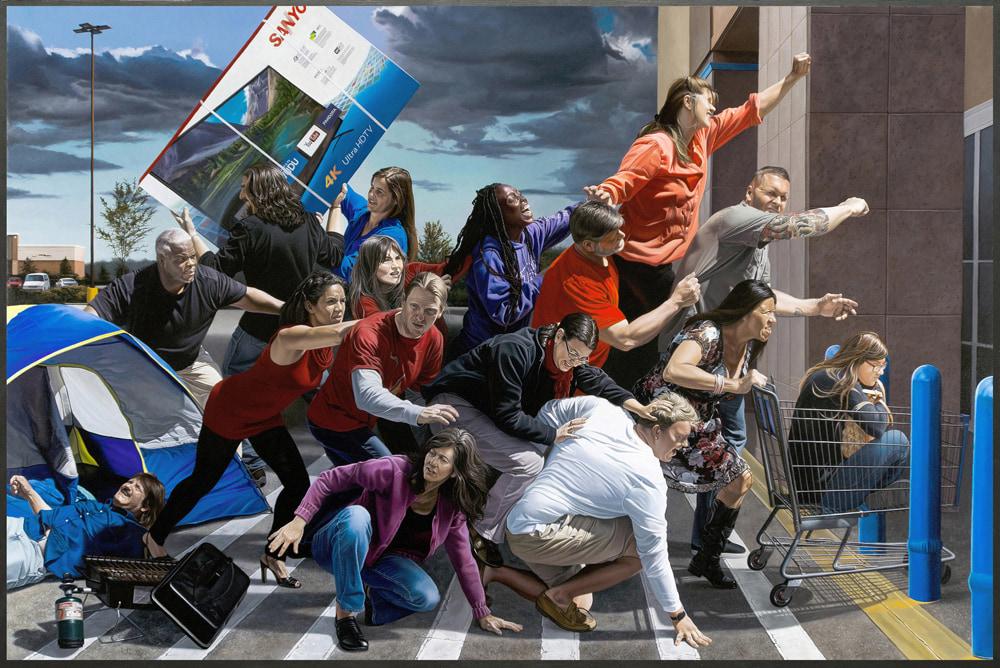 Kevin-Grass-Black-Friday-framed-Acrylic-on-canvas-painting-rqf5qo