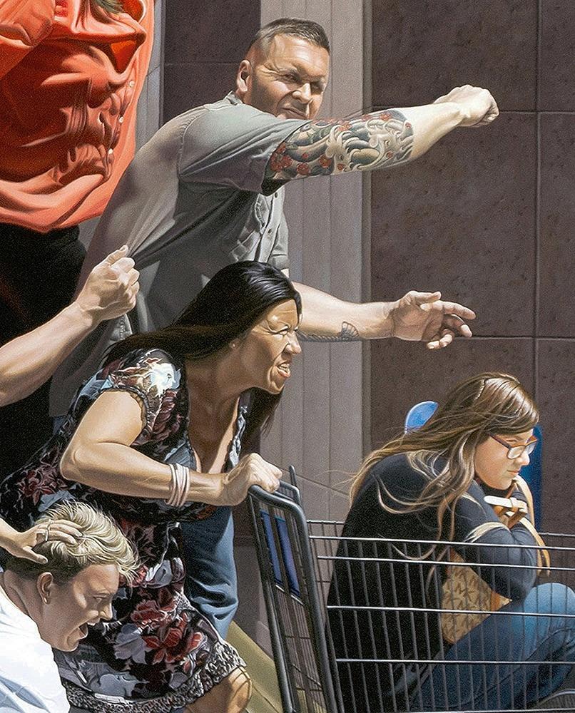 Kevin-Grass-Black-Friday-detail-2-Acrylic-on-canvas-painting-lysvem
