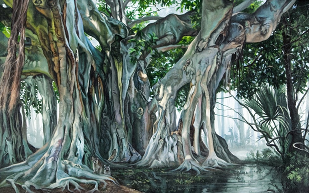 Kevin-Grass-Banyan-Tree-acrylic-on-canvas-painting-mvst0x