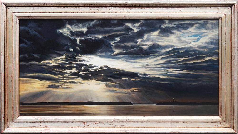 Kevin-Grass-Dusk-framed-Acrylic-on-panel-painting-dix2bu