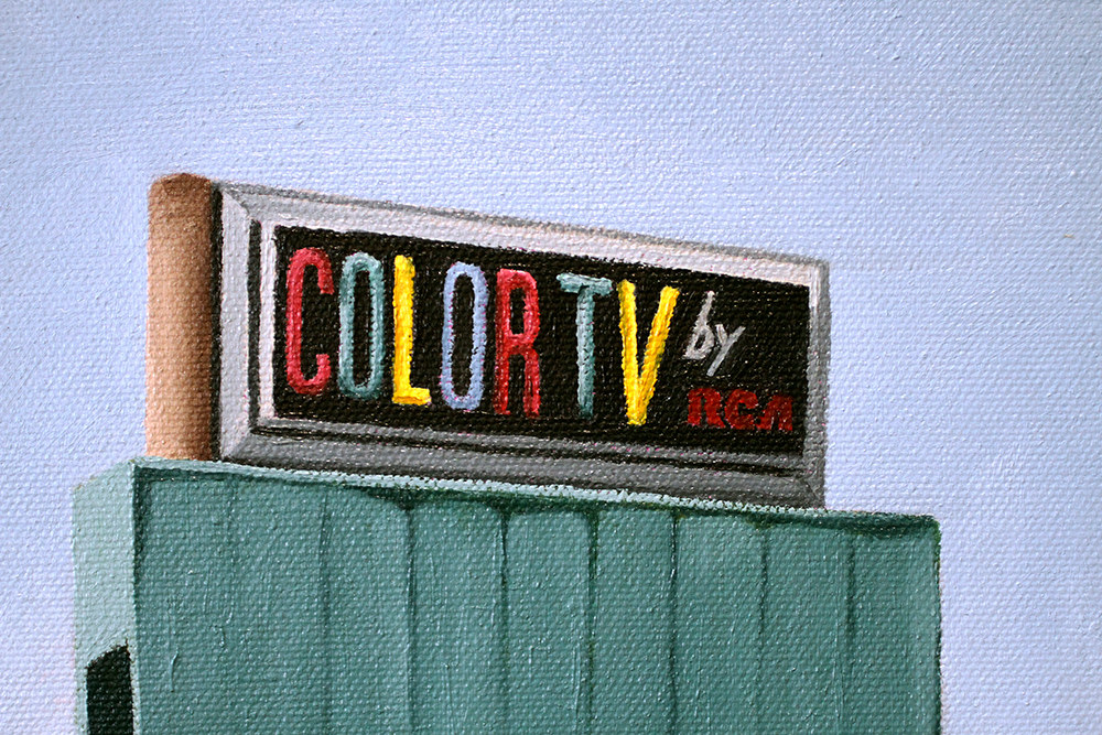 Fine Art Prints and Painting   Roadside Art   Color TV by RCA