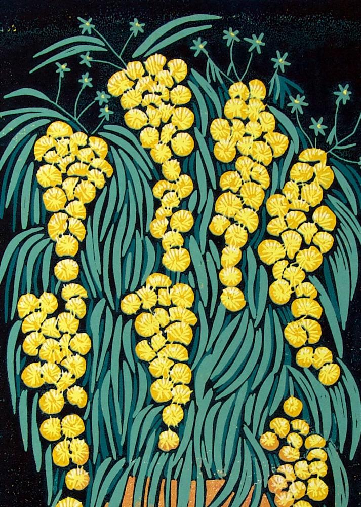Mimosa orange vase detail