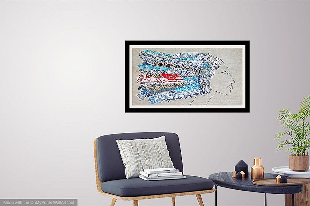 collage wild streak interior