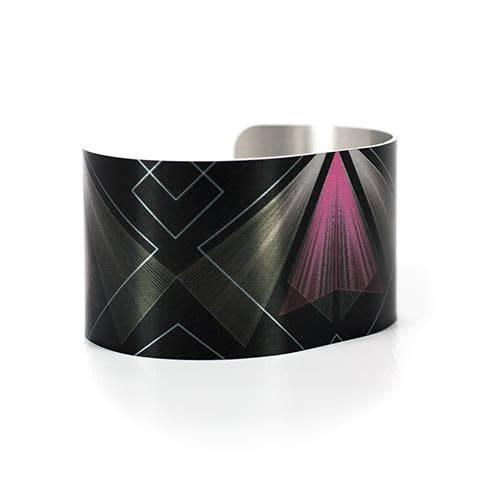 Caroline Geys Art Deco Vortex cuff