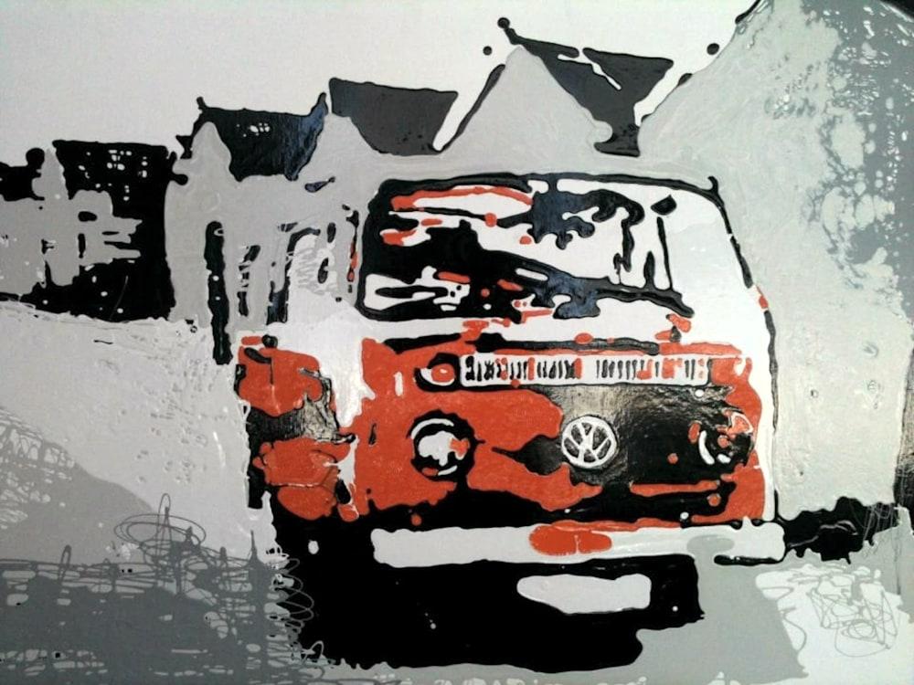 VW Camper Van by Steph Fonteyn