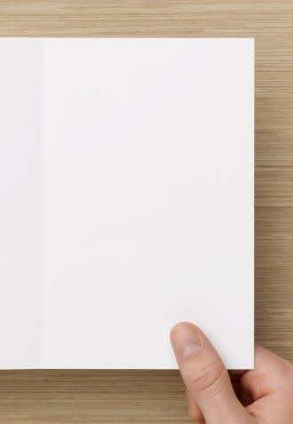 Blank Inside V Fold