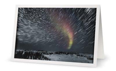 R Aurora Star Trails Snowy Landscape f