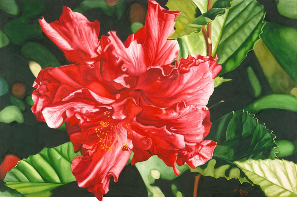 Double Red Hibiscus Original