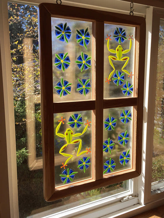 Fused glass window   4 pane