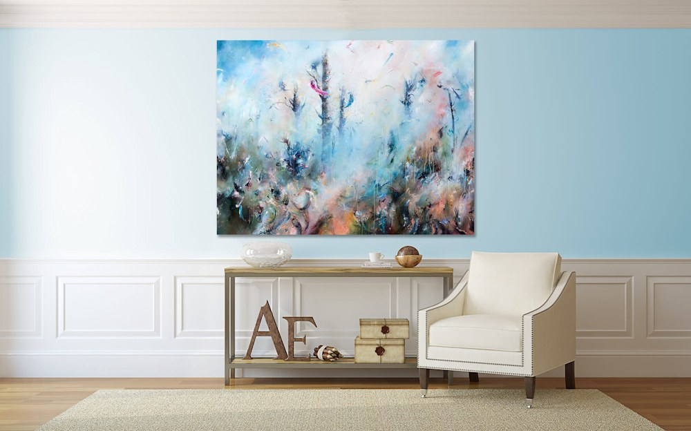 nature painting in room