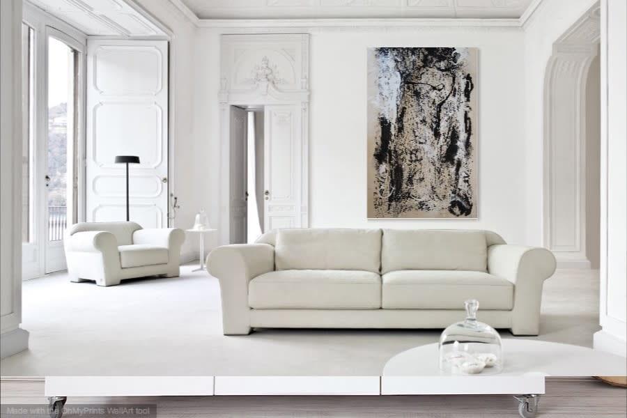 Time in Motion Lesley Koenig Fine Art in Busnesli Designed White Room