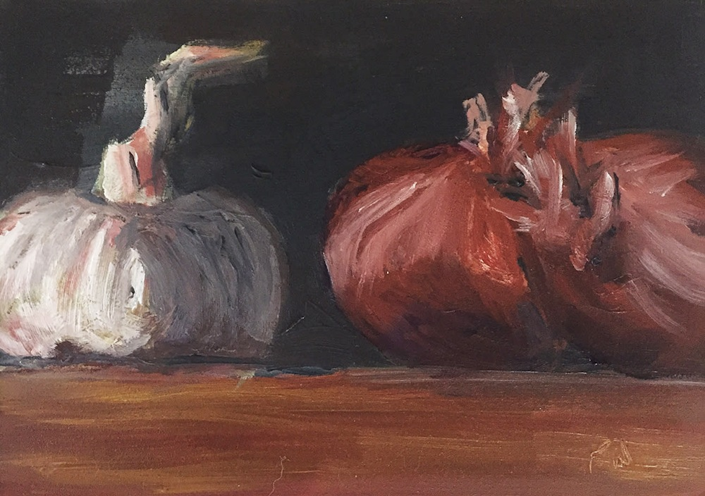 Garlic and Shallots by paul william artist