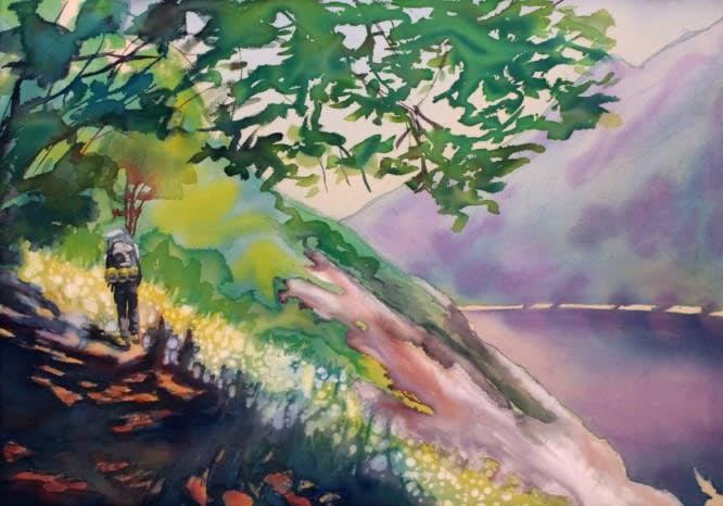 hiker 2 original painting michael serafino wet paint nyc