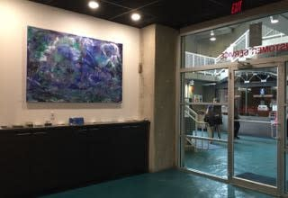 Scene of the Deep diptych Installation Aqua SONO Lesley Koenig