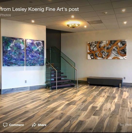 Two Diptychs of Exhibition Hurleyville Arts Ctr Lesley Koenig