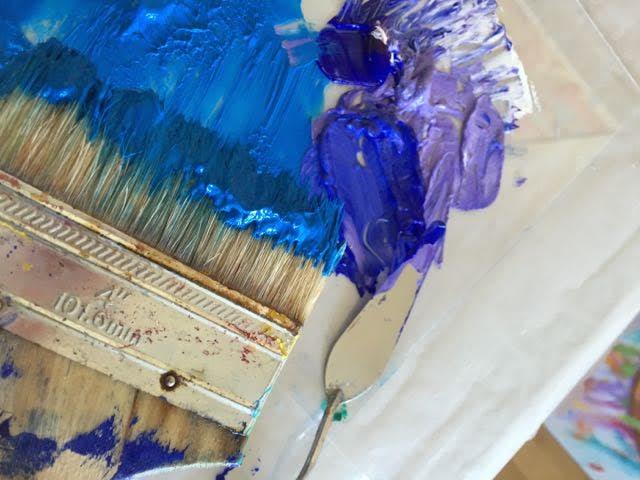 Scene of the Deep paint mix Lesley Koenig