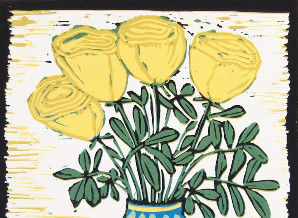 Yellow roses top