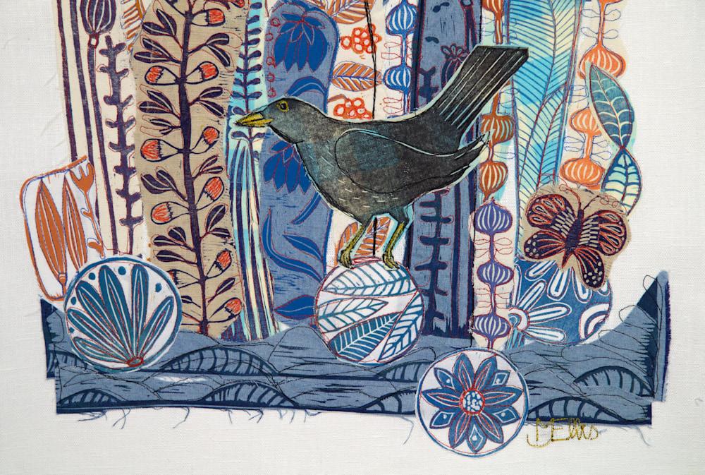 collage lino blackbird signature