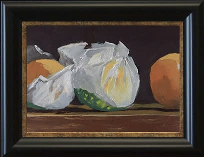 Oranges in Wrappers Black frame 5x7