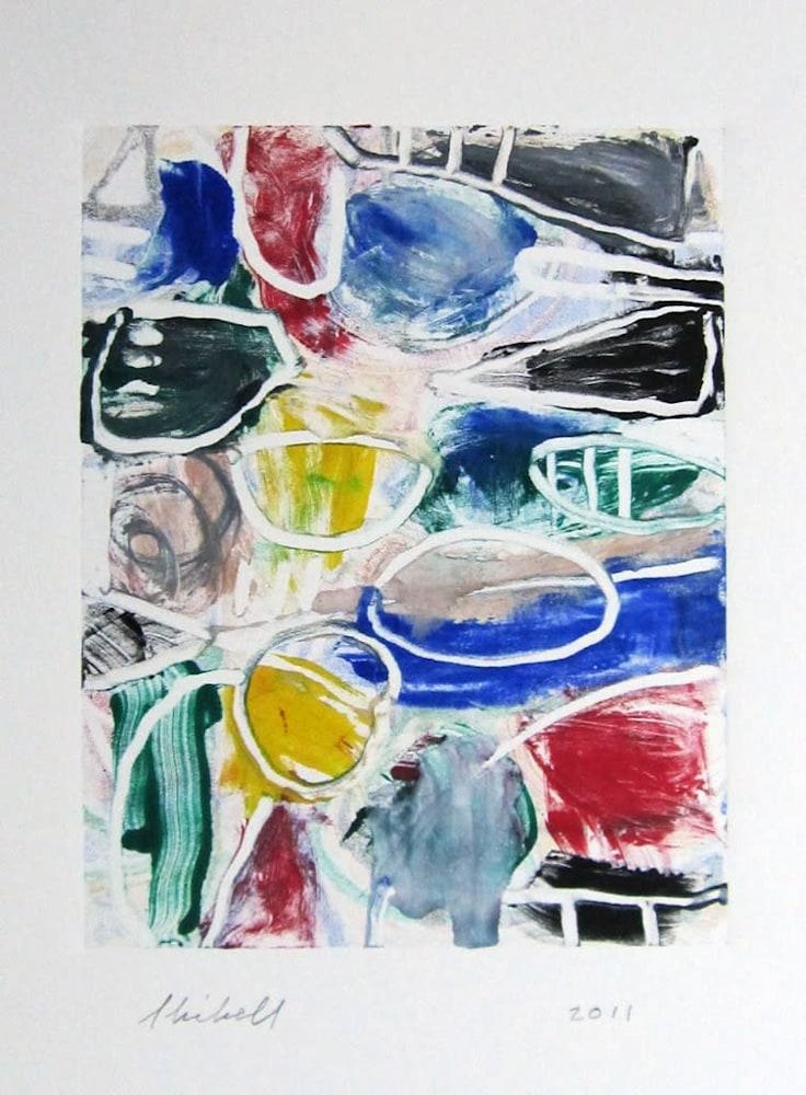 Jerry Skibell, Untitled, monoprint, 11x8