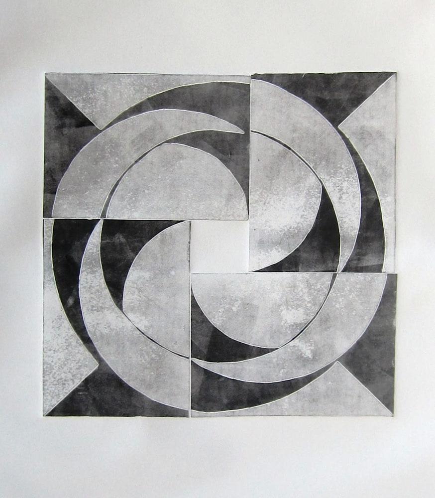 Jerry Skibell, Pinwheel Series Circles 2, 13x13 in
