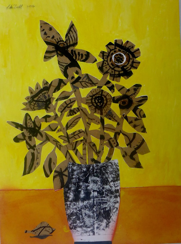 Jerry Skibell, Flowers, Collage, Color