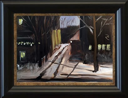 Adams Street at Night by paul william artist framed