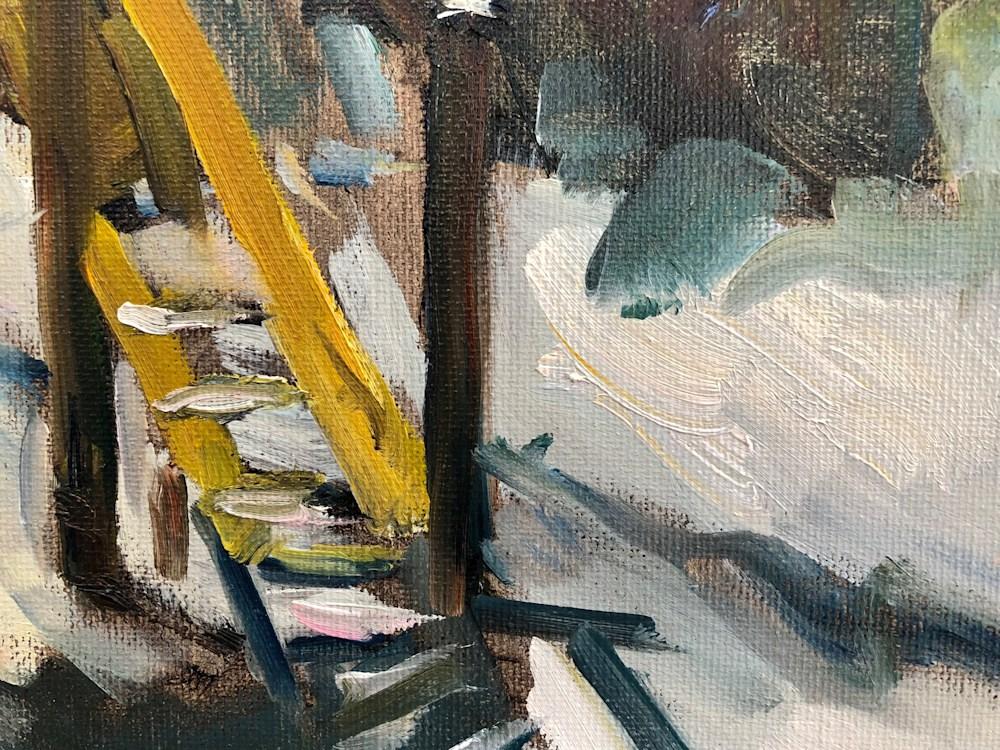 paris playground oil painting detail