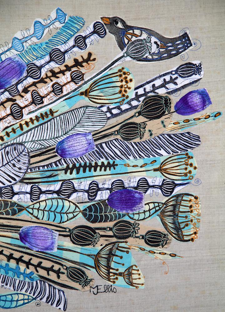 lino collage ravens wedding signature