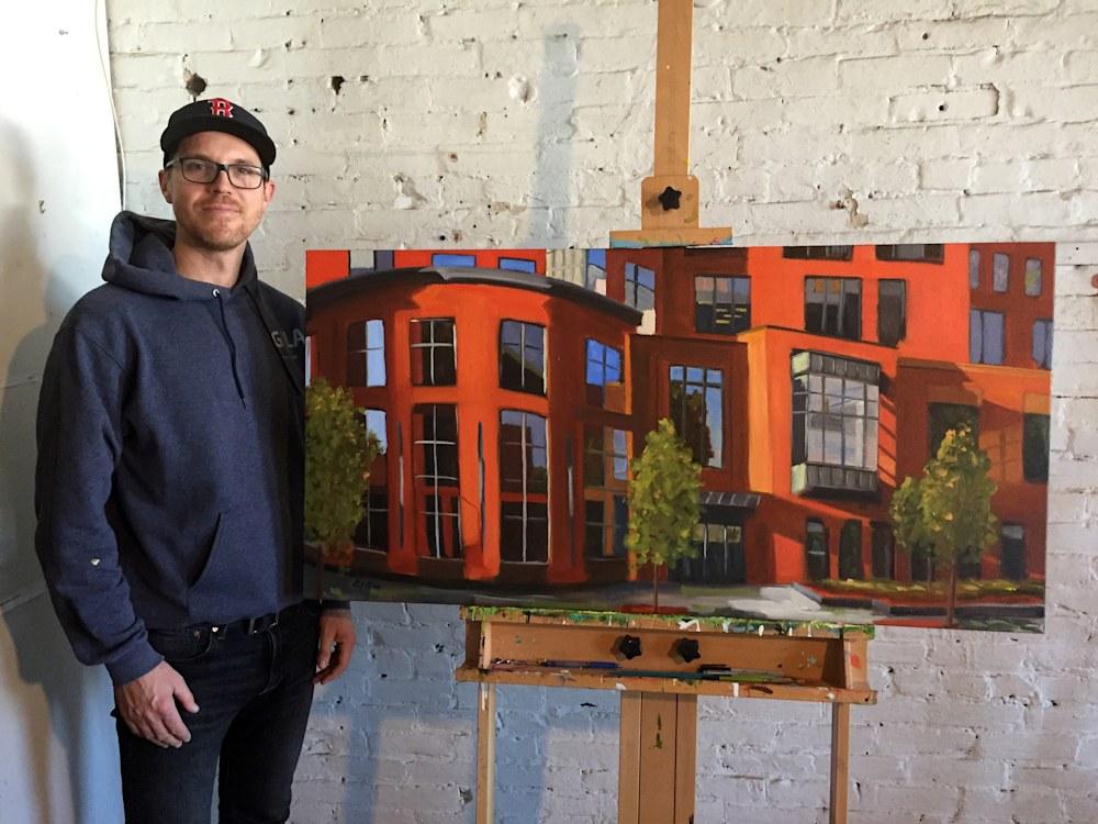 Paul with BU painting