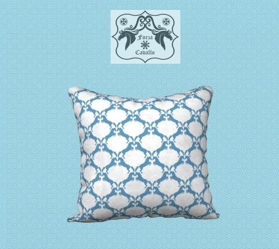 Blue Horse Pillow