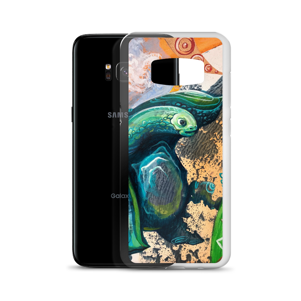 TURTLE0 OG SIZE mockup Case with phone Samsung Galaxy S8 copy