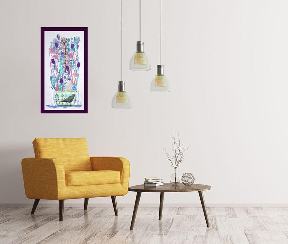 lino collage mothwings interior