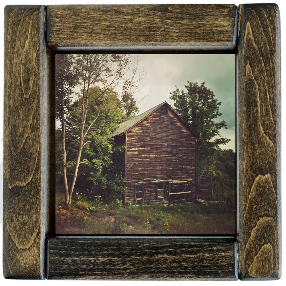Old Barn Photo Tile Framed