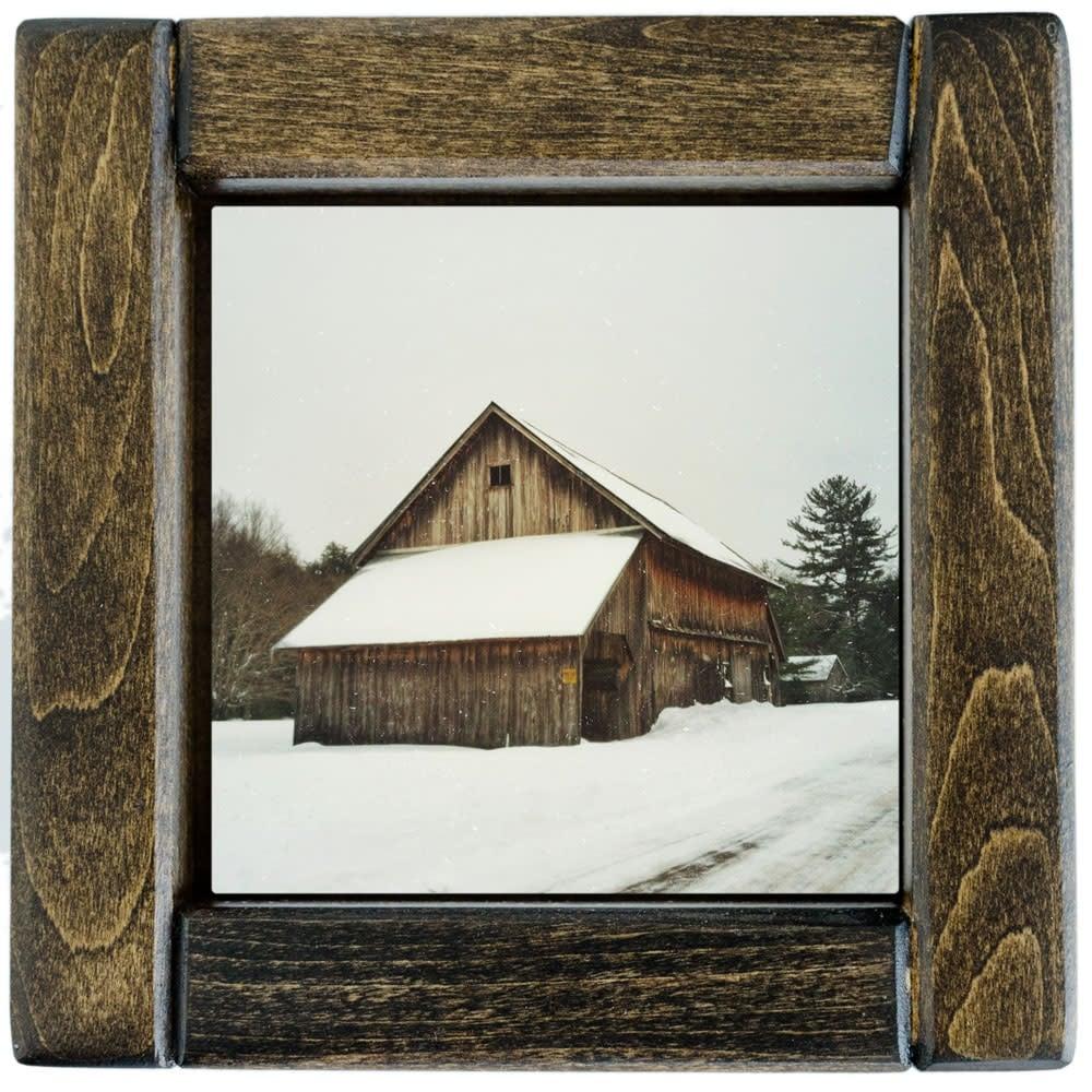 Denning Winter Barn Framed