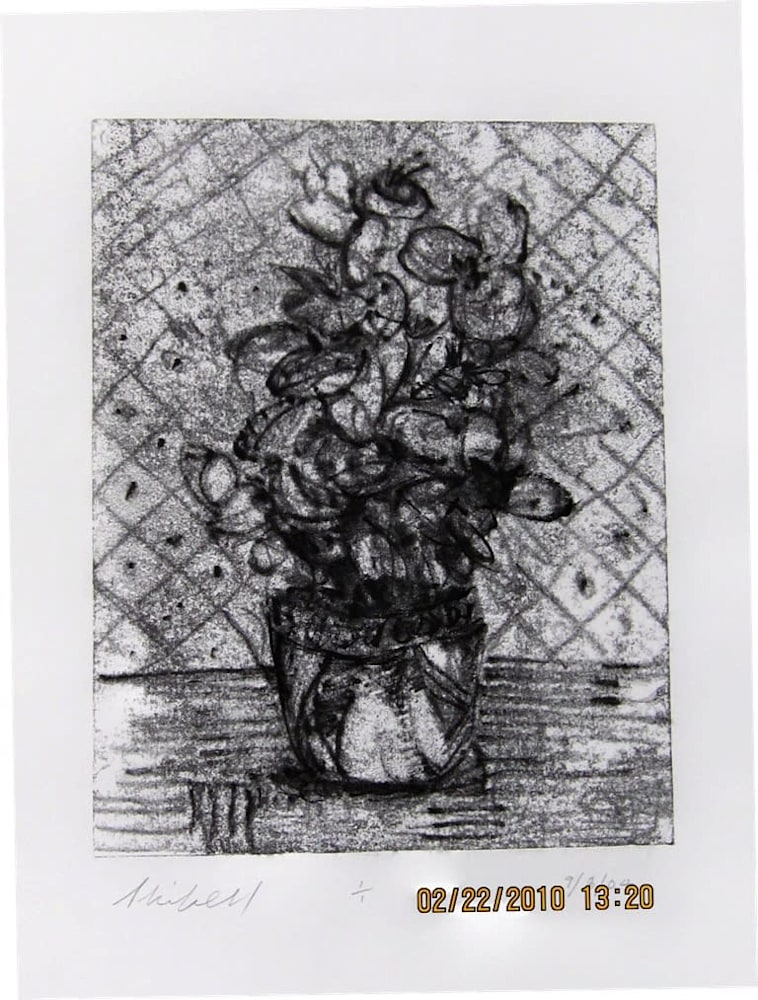 House Plant by Wall, (one of set) 11X8