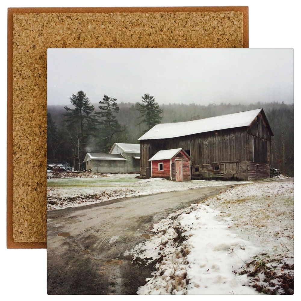 Sundown Barns in Winter