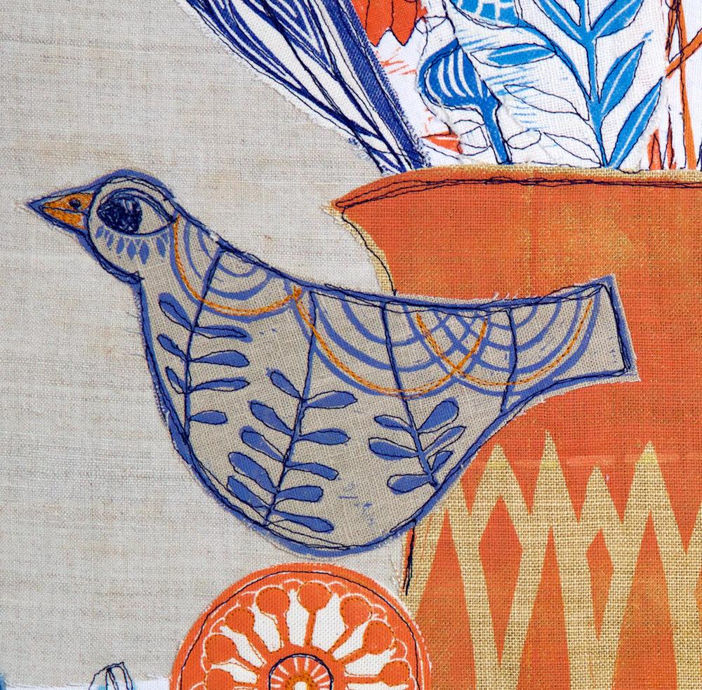 lino coll orange jug bird
