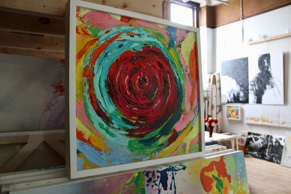 Rose  Vortex and studio view Lesley Koenig