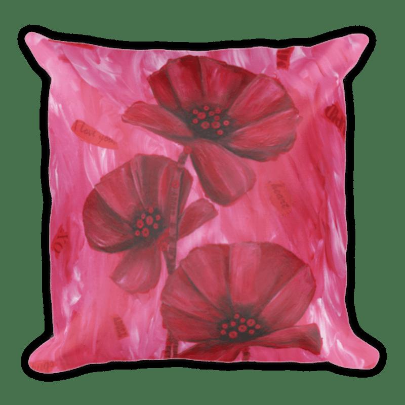 Poppy Love Square Pillow
