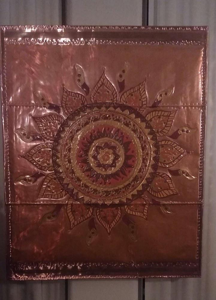 Copper Sun Mandala Repoussé Signature Piece
