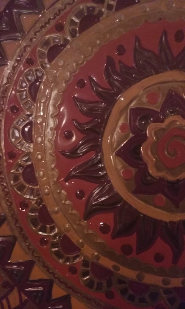 Close Up Mandala Repoussé