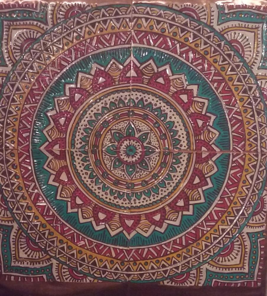 meditation mandala pillow 1