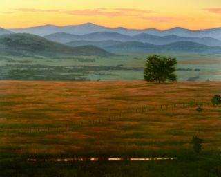 sunset prairie view 30x24