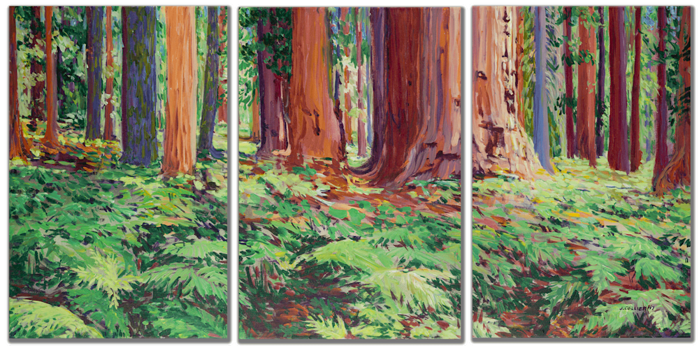 The Senate with Wild Ferns triptic